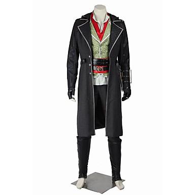 Superhelter Assassin Cosplay Cosplay Kostumer Maskerade Party-kostyme Halloween Utstyr Film-Cosplay Frakk Topp Bukser Belte Mer Tilbehør