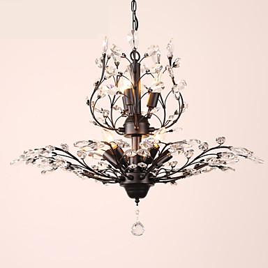 LightMyself™ 8-luz Lámparas Araña Luz Ambiente - Cristal, LED, 110-120V / 220-240V Bombilla no incluida / 15-20㎡ / E12 / E14