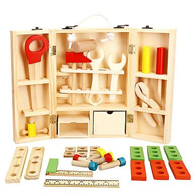 צעצועי כלים קופסאות כלים צעצועים סימולציה בטיחות עץ בגדי ריקוד ילדים בנים חתיכות