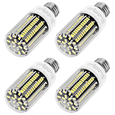 YouOKLight 4stk 1100lm E26 / E27 LED-kornpærer T 136 LED perler SMD 5733 Dekorativ Varm hvit 220-240V