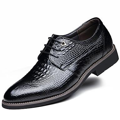للرجال أحذية رسمية جلد ربيع / خريف مريح أوكسفورد مقاوم للماء أسود / أصفر / بني / الحفلات و المساء / أحذية جلدية