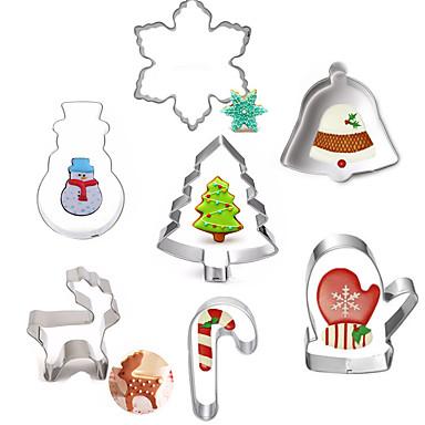 Ferramentas bakeware Aço Inoxidável Natal / Faça Você Mesmo Bolo / Biscoito / Torta Desenhos Animados 3D / Animal Molde 7pçs