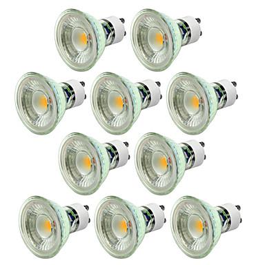 abordables Ampoules électriques-10pcs 5 W Spot LED 550-650 lm GU10 1 Perles LED COB Intensité Réglable Décorative Blanc Chaud Blanc Froid 220-240 V / 10 pièces / CE