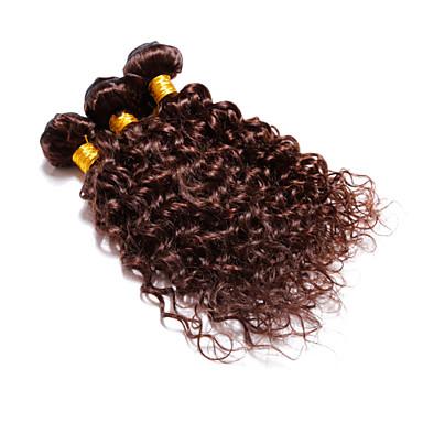 Υφάνσεις ανθρώπινα μαλλιών Βραζιλιάνικη Κυματιστό 4 Κομμάτια υφαίνει τα μαλλιά