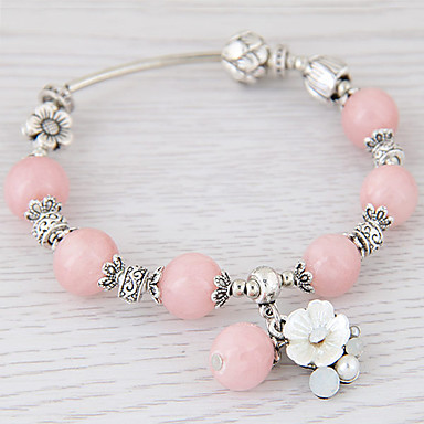 Dame Krystall Blomst Vedhend Armband Strand Armbånd - Personalisert Mote Enkel Stil Svart Blå Rosa Armbånd Til Fest Gave