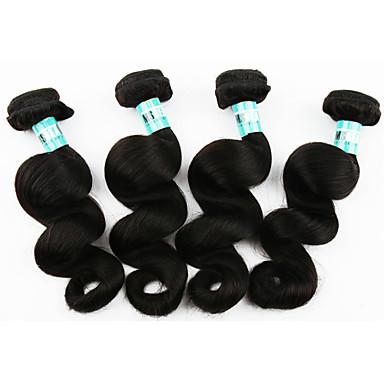 Человека ткет Волосы Бразильские волосы Свободные волны 4 предмета волосы ткет
