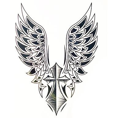 Lombar / Á Prova d'água / Etiqueta do tatuagem Mãos / Braço Tatuagens temporárias 1 pcs Preto Arte para o Corpo