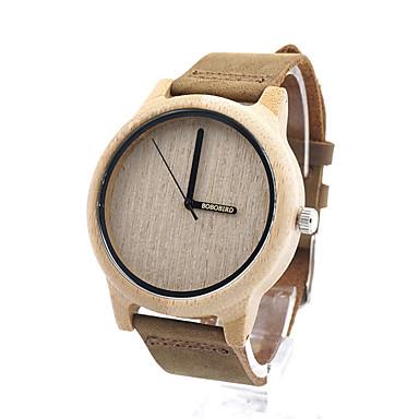 baratos Relógios Homem-Homens Mulheres Relógio de Moda Relógio Madeira Quartzo Madeira Cáqui / Analógico Casual - Café