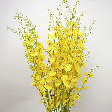 Flores Artificiales 10 Rama Estilo Pastoral Orquídea Flor de Mesa