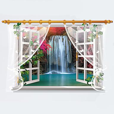 Autocolantes de Parede Decorativos - Autocolantes 3D para Parede Paisagem / Moda / 3D Sala de Estar / Quarto / Sala de Jantar