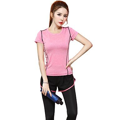Dame T-skjorte til jogging Kortermet Fort Tørring, Pustende T-Trøye / Topper til Yoga & Danse Sko / Trening & Fitness / Løp Modal Lilla /