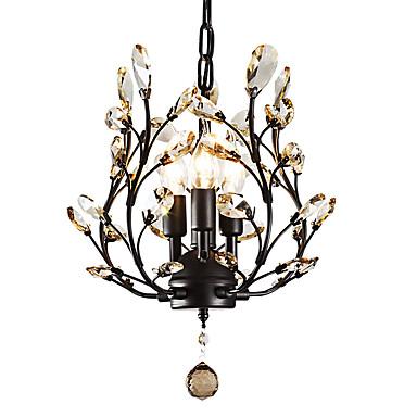 LightMyself™ 3-الضوء نجفات تصدر حرارة عالية / ضوء فوق - كريستال, LED, 110-120V / 220-240V لا يشمل لمبات / 10-15㎡ / E12 / E14