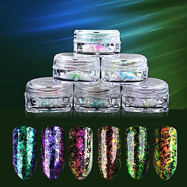 6SET Glitter & Poudre / Pudder Glitters / Klassisk Daglig