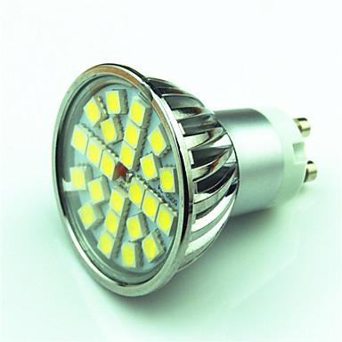 4W 350lm GU10 LED-spotpærer MR16 24 LED perler SMD 5050 Mulighet for demping Varm hvit Kjølig hvit 220V 85-265V