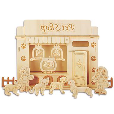 voordelige 3D-puzzels-Legpuzzels DHZ-kit Bouwblokken 3D-puzzels Educatief speelgoed Legpuzzel Houten puzzels Bouw blokken DHZ-speelgoed Meubilair 1 Hout Goud