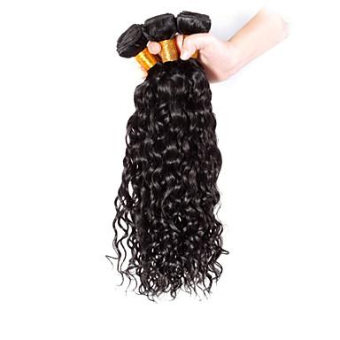 baratos Extensões de Cabelo Natural-3 pacotes Cabelo Brasileiro Encaracolado Clássico 8A Cabelo Humano Cabelo Humano Ondulado Tramas de cabelo humano Extensões de cabelo humano
