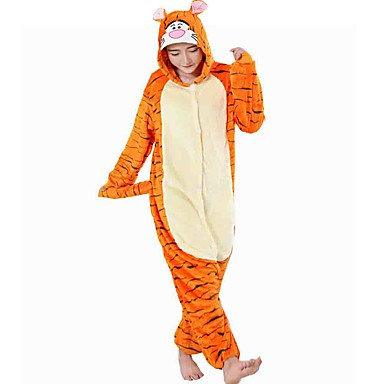 9856fb79a0 Adults  Cosplay Costume Halloween Props Kigurumi Pajamas Tiger Onesie  Pajamas Flannel Toison Orange Cosplay For