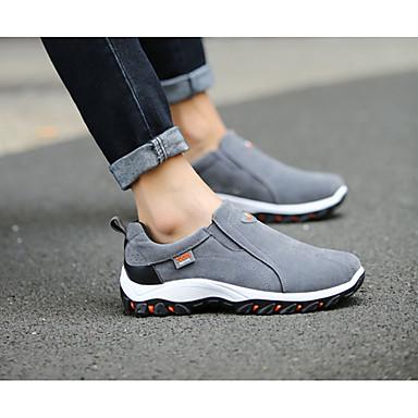 Homme Polyuréthane Printemps / Automne Confort Chaussures Chaussures Chaussures d'Athlétisme Marche Noir / Gris / Kaki   Luxuriante Dans La Conception  7af1a4