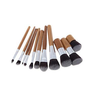 11pçs Pincéis de maquiagem Profissional Conjuntos de pincel Fibra Sintética / Pêlo Sintético / Escova de Fibra Artificial Portátil