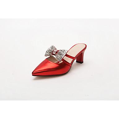 Nouveauté Similicuir Aiguille Marche Eté Chaussures Bout Chaussures Femme Printemps Talons pointu Polyuréthane 05602097 à Noeud Talon Confort xfS41q1wC