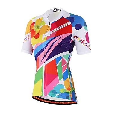 Manga Curta Camisa para Ciclismo Moto Camisa / Roupas Para Esporte, Redutor de Suor Coolmax®