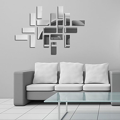 Espejos formas abstracto pegatinas de pared calcoman as de for Calcomanias para paredes decorativas