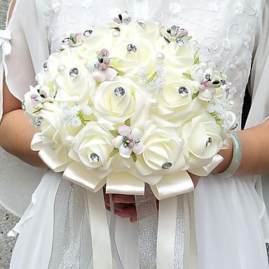 Bouquets de Noiva Buquês / Decoração de Casamento Original Ocasião Especial / Festa / Noite Miçangas / Strass / Espuma 9.84