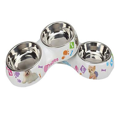 ネコ 犬 餌入れ/水入れ ペット用 ボウル&摂食 防水 虹色
