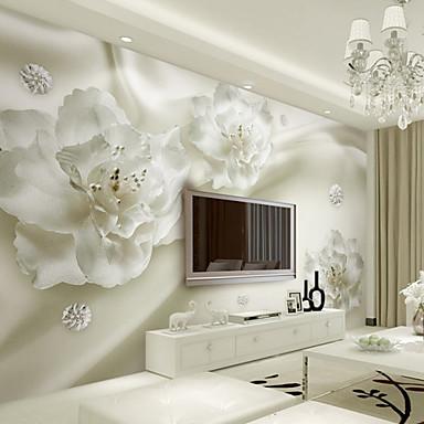 billige Tapet-Art Deco 3D Tapet til Hjemmet Moderne Tapetsering , Lerret Materiale selvklebende nødvendig Veggmaleri , Tapet
