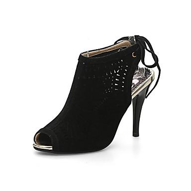 e6553a3d7f1e7 Bout Chaussures Chaussures Evénement Laine Jaune Soirée Printemps Eté  synthétique Lacet Noir Marche Gladiateur ouvert Gris ...