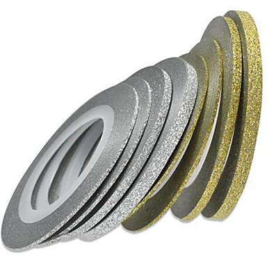8rolls/set Etiquetas e Fitas / Etiqueta da folha 3D / Acessório da ferramenta DIY Art DIY Acessórios & Instrumentos / Nail Art Design