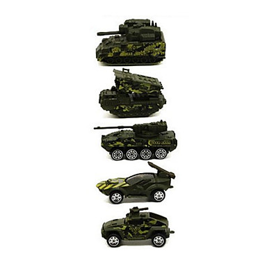 Militærkjøretøy Tank Leketrucker og byggebiler Lekebiler kjøretøy Leke 1:64 Metallisk Plast 1pcs Gutt Barne Leketøy Gave