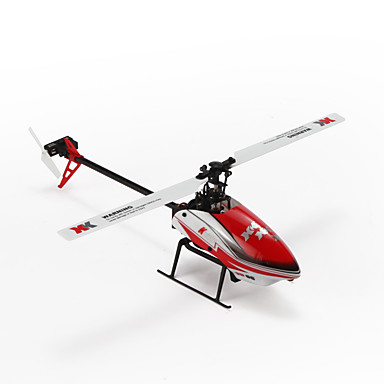 Radiostyrt Helikopter WLtoys K120 6CH 6 Akse 2.4G Børsteløs Elektrisk - Klar-Til-Bruk Flyr På Hodet Fjernkontroll / Flybarless