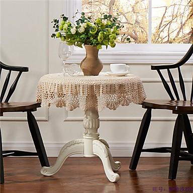 100% bumbac Rotund Fețe de masă Cu model Ecologic Decoratiuni de tabla