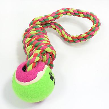 Brinquedos para Dentição de Gatos Brinquedos para Dentição de Cachorros Corda Elástico Durável Halloween Tecido Bola Maluca Bola de Tenis