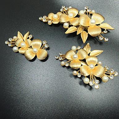 Perle / Krystall / Aleación Haarkämme / Kopfbedeckung mit Blumig 1pc Hochzeit / Besondere Anlässe Kopfschmuck