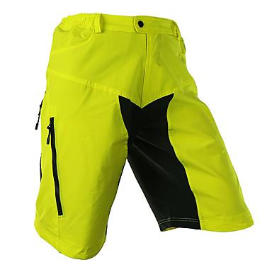 Arsuxeo Herrn Fahrradhosen Hellgelb / Hellblau Patchwork / Klassisch Fahhrad Shorts / Laufshorts / Mountainbike Shorts / Baggyhosen