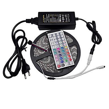 5 m Sets de Luces 300 LED 5050 SMD RGB Control remoto / Cortable / Regulable 100-240 V / IP65 / Impermeable / Conectable / Adecuadas para Vehículos / Auto-Adhesivas