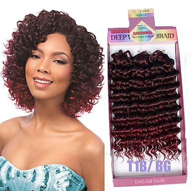 שיער קלוע מתולתל / גלי / גל עמוק תוספות שיער משיער אנושי / מארג 3pcs / Pack שיער צמות קצר יומי / יש 3 חתיכה בחבילה אחת. בדרך כלל 5-7 Pack מספיק עבור ראש מלא.