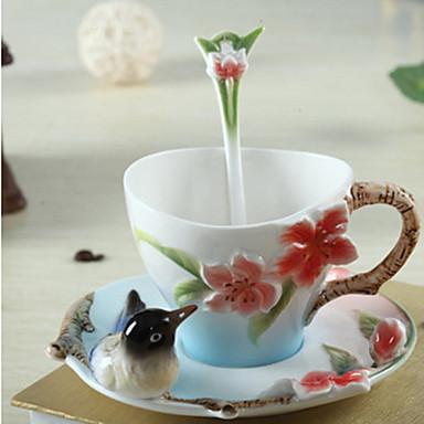Vasos Tazas de Café Cerámica Termoaislante Ir / Marrón Café