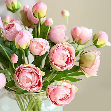 Flores artificiais 1 Ramo Estilo Europeu Plantas Flor de Mesa