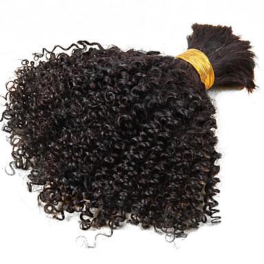 Cabelo Brasileiro Kinky Curly / Weave Curly Cabelo Virgem Cabelo Humano Ondulado 1 pacote 10-26polegada Tramas de cabelo humano Venda