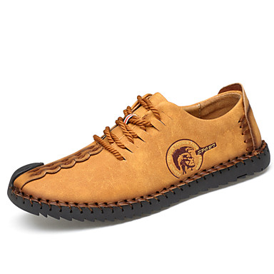 Muškarci Osvjetljenje Mikrovlakana Proljeće / Ljeto / Jesen Udobne cipele Sneakers Otporno na klizanje Crn / Zemlje žuta / Žutomrk