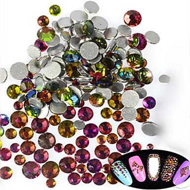 500-600pcs/bag مادة لامعة مجوهرات الأظافر أحجار الراين محبوب فن الأظافر تجميل الأظافر والقدمين يوميا جليترز / الزفاف / متلألئ / مجوهلرات الأظافر