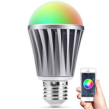 inteligente levou e27 lâmpada Bluetooth 4.0 RGBW resistência à água luz / regulável / tempo / controle remoto app / dormir lâmpada de