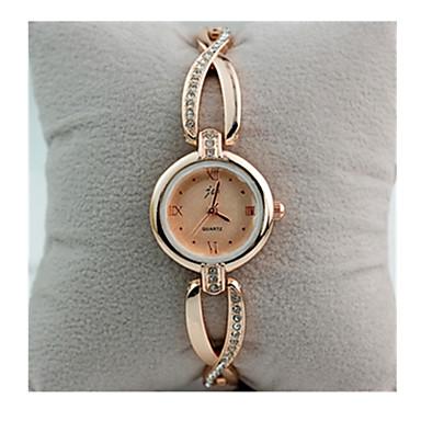 ieftine Ceasuri Damă-Pentru femei Ceas Brățară Simulat Diamant Ceas Diamond Watch Quartz Placat Cu Aur Roz Oțel inoxidabil Alb / Auriu 30 m Ceas Casual / Analog - Digital femei Vintage - Alb Auriu