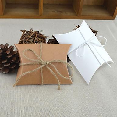 Rund Kvadrat Pute Kort Papir Gaveholder med Bånd Printer Favoritt Esker
