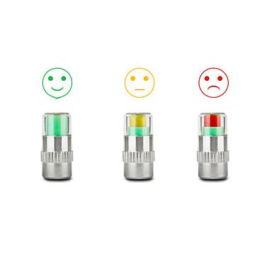 4 pneus válvula indicador monitor de pressão com tampa de alerta da haste do sensor olho