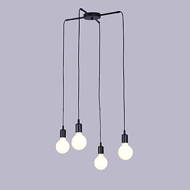 4-luz Luzes Pingente Luz Ambiente Acabamentos Pintados Metal Designers 110-120V / 220-240V Lâmpada Não Incluída / E26 / E27