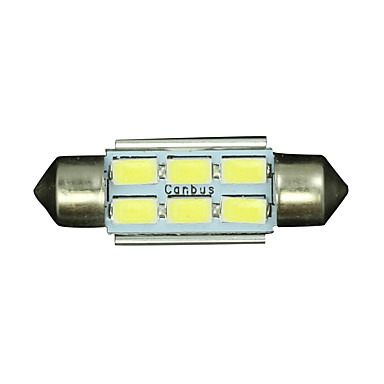 SO.K 10pcs T11 Bil Elpærer 3W SMD 5730 250lm LED interiør Lights